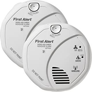 First Alert Wireless Battery Operated Smoke & Carbon Monoxide Alarm (2 Pack)