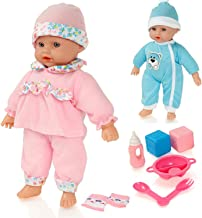 Molly Dolly Sweet Sounds Lil 'Baby Talking Girl Doll y Accesorios - Adecuado para 2 años de Edad +