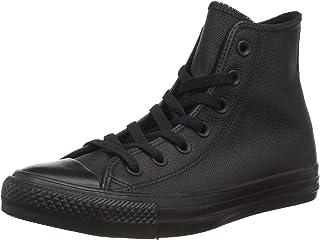 zapatillas converse negras piel
