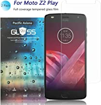 [2-Pack]Moto Z2 Play Screen Protector, Pacific Asiana Ultra Thin HD Clear Ballistic [9H Hardness][Anti-Scratch][Bubble-Free][Shockproof][Anti-Fingerprint] Tempered Glass for Motorola Z Play (2nd Gen)