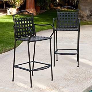 Amazon Com Wrought Iron Patio Dining Chairs Chairs Patio Lawn