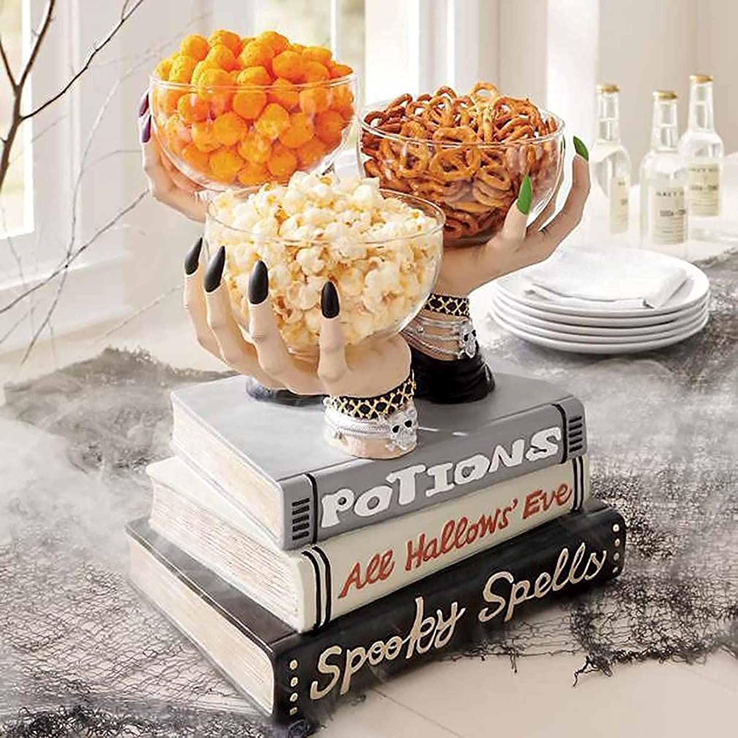 Halloween Witch Hands OFFicial mail order Snack Bowl Hallowee Pocus Memphis Mall Bowl-Hocus