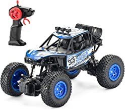 Remote Control Car,RC Cars for Kids with Powerful High Speed Shockproof All Terrain Climbing Trucks Radio Electric Stunt Crawler Buggy Car for Boys Girls Adult Childrens Birthday Festival Gifts(Blue)