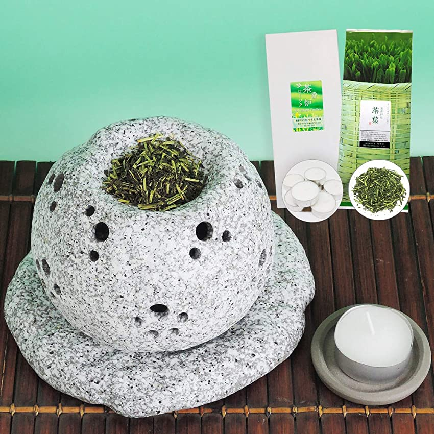 ただやるバルク包囲元祖 茶香炉セット 茶香炉専用茶葉&ローソク付 川本屋茶舗