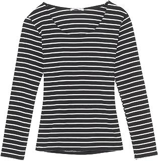 (パークガール)PARK GIRL テレコ素材ダブルフロントUネック長袖カットソー レディース 大きいサイズ M/L 5621556273