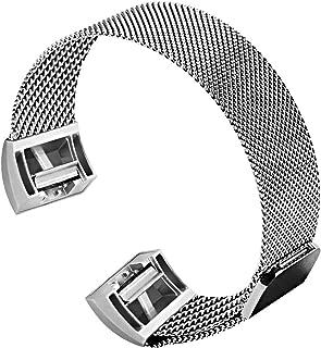 Lotive ステンレススチール製磁気開閉メタル交換リストバンド、Charge 2 Charge 3 and Charge 3 SE Large、と互換性があります16CM-22.1CM 銀