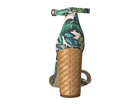 Sam Edelman Yaro Ankle Strap Sandal Heel Jade Multi Wallpaper Palm Print Pre Order Cheap Online WSQPgO9eX