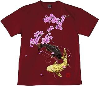 [GENJU] Tシャツ 和柄 鯉 背面無地版 メンズ キッズ