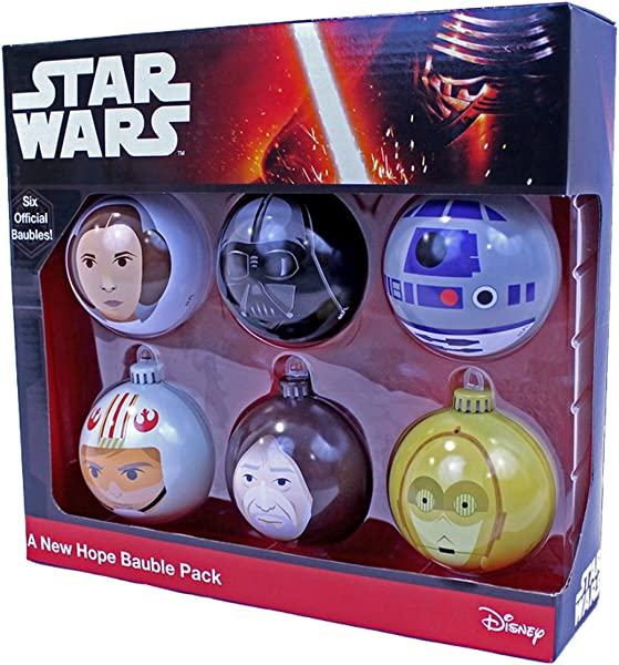 Star Wars A New Hope Christmas Tree Ornaments 6 Pack