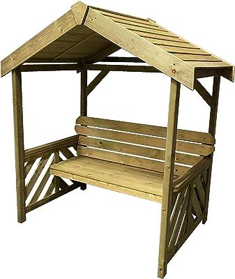 Garden Pleasure – Banco Promotion Muebles de Jardín de Madera de eucalipto Jardín Parque Banco de 2 plazas: Amazon.es: Jardín