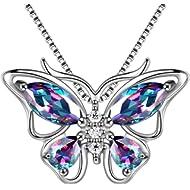 Aurora Tears Butterfly Jewelry Women 925 Sterling Silver Butterflies Necklace/Earrings/Rings...