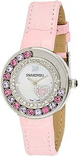 Swarovski Women's Silver Dial Leather Band Watch - 5096032, Analog Display