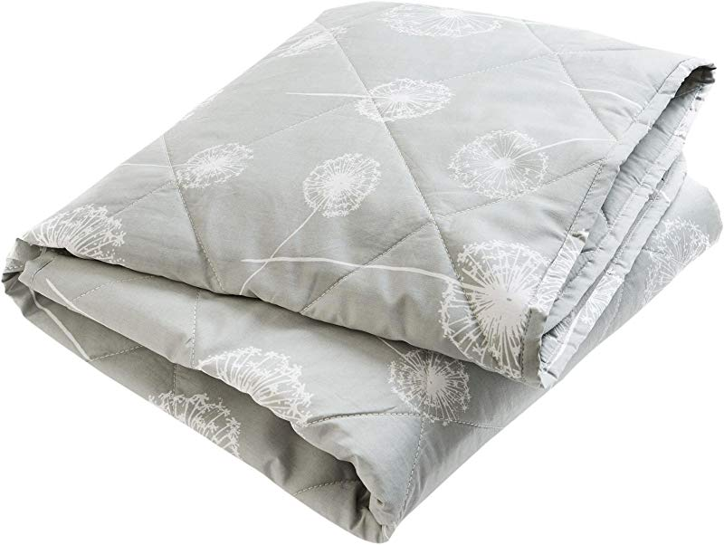 Brooklyn Born Organic Quilt Wishes Dreams Grey White One Size