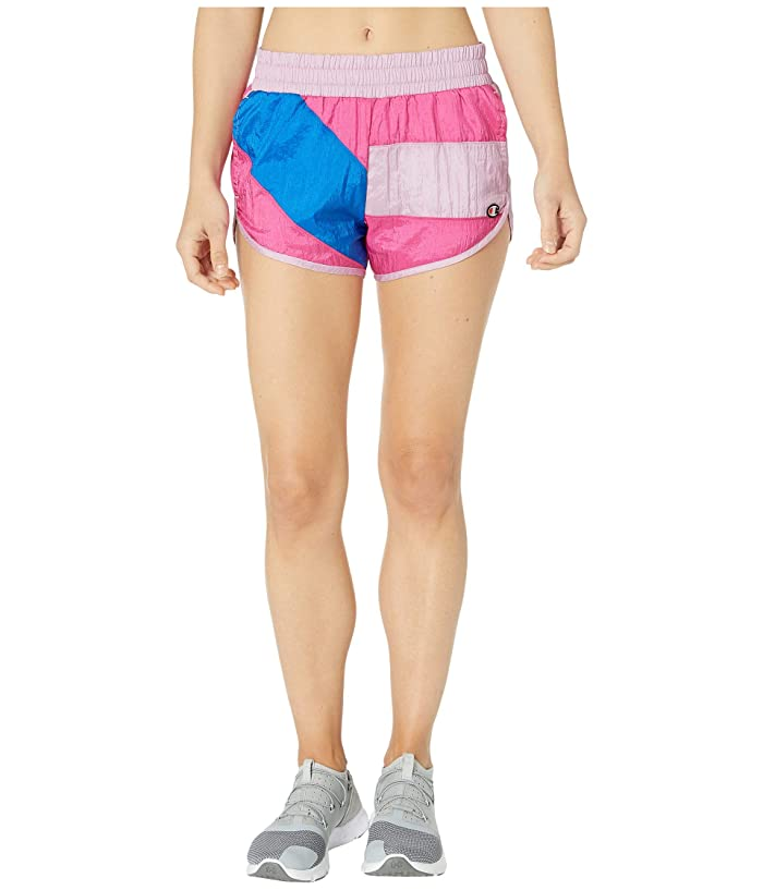 Vintage High Waisted Shorts, Sailor Shorts, Retro Shorts Champion LIFE Color Block Crinkle Shorts Ice Cake Multi Womens Shorts $45.00 AT vintagedancer.com