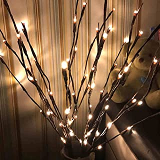 Autohigh 3 Pack Warm White Lighted Twig Branches 60 LED Lights Artificial Tree Willow Branches Lamp for Home Holiday Party Decoration Decor Battery Operated