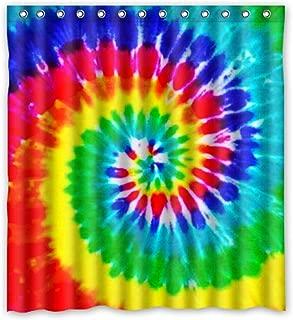 ZHANZZK Tie Dye Waterproof Shower Curtain 66x72 Inches