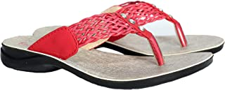 BATA Girls Red Andy Slippers