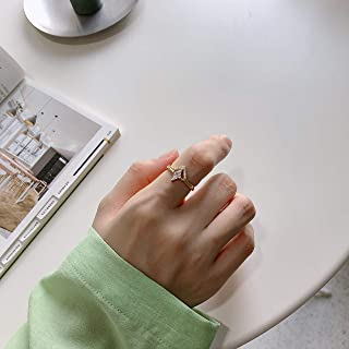 Mymegoc Zircon Vintage Ring for Women Female Weddings Jewelry Gift