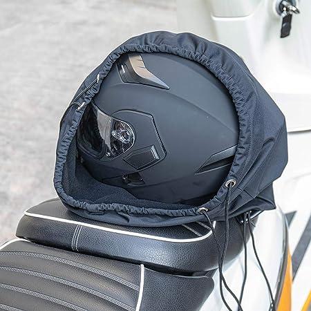 kemimoto ヘルメット入れ 柔軟 ヘルメットケース 軽量 ヘルメットバッグ バイク ヘルメット 袋 巾着式 スポーツ 袋 ブラック