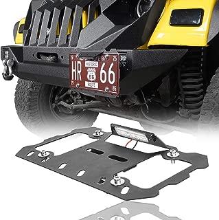 u-Box License Plate Mounting Bracket Holder w/White LED Light for 1955-2019 Jeep Wrangler CJ YJ TJ JK JL