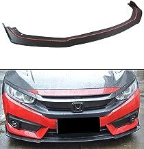 Fits for 2016-2018 10th Gen Honda Civic X Coupe Sedan JDM CTR Front Bumper Lip Spoiler Splitter