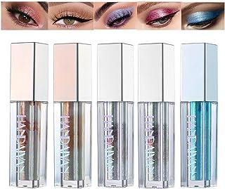 BEEXY 5 Colors Dimond Glitter Liquid Eyeshadow Set, Long