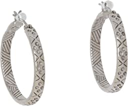 The Sak - Etched Hoop Earrings