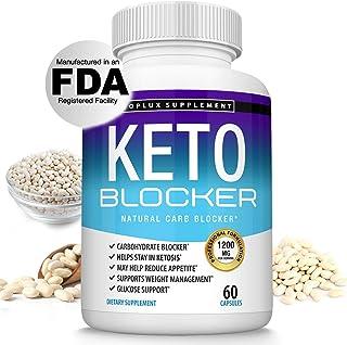 Keto Blocker Pills White Kidney Bean Extract - 1200 mg Natural Ketosis, Support Keto Diet, for Men Women, 60 Capsules, Top...