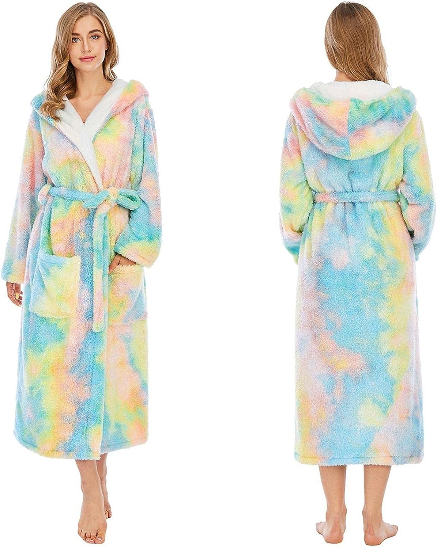 Women Colorful Tie-Dye Bathrobes - Premium Cotton Lightweight Robe Short Soft Robes Sleepwear Ladies Loungewear