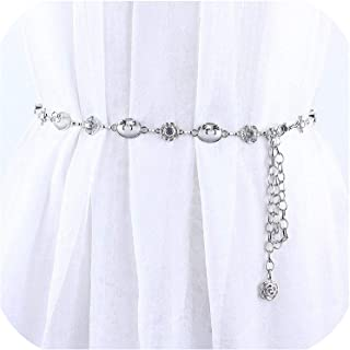 Surprise S Metal Waist Chain Belts Women For Dresses Female Ladies Rhinestone Femme Gold Silver Plated