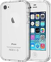 JETech Hülle für iPhone 4s iPhone 4, Schutzhülle mit Anti-kratzt Transparente und Rückseite, HD Klar