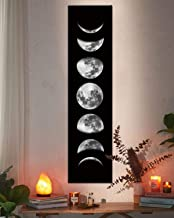 Moon Phase Wall Art Painting, Black and White Moon Canvas Print Poster Wall Art Decoration for Bedroom Living room (Black ...