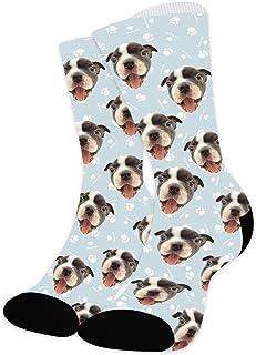 Zhovee, Calcetines personalizados, perro, gato, mascotas cara imagen calcetines para amantes de las mascotas, calcetines personalizados cara