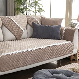 YHviking Corduroy Sofa Towel,Four Seasons Universal Non-Slip Slipcovers,Leather Sofa Cover,Couch Cover for Home Living Room Decorative 1-Piece-B 110x110cm(43x43inch)