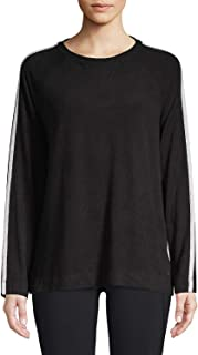 Calvin Klein Womens Performance Long Sleeve Pullover Top Color Black Size Large