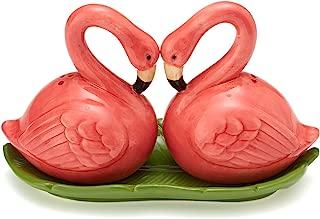 Two's Company Flamingo Salt & Pepper Shaker ceramic, Pink