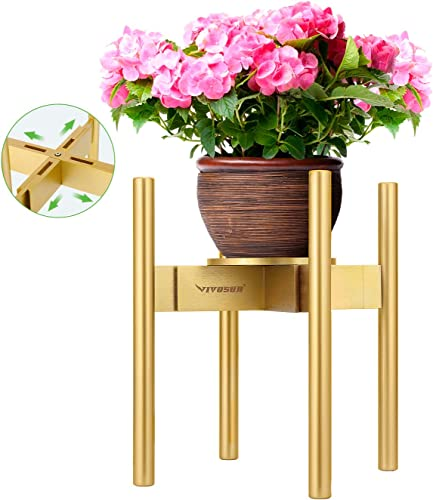 discount VIVOSUN Mid Century Plant Stand Indoor Bamboo Modern Plant online sale Flower Pot Holder wholesale with Tray/Coaster for Corner Display outlet online sale