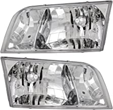 Headlights Headlamps Driver and Passenger Replacements for 1998-2011 Ford Crown Victoria 4W7Z 13008 A 4W7Z 13008 B
