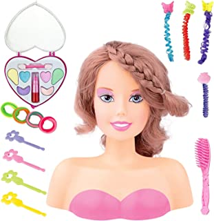 Princess Styling Head Doll Playset with Beauty and Fashion Accessories for Girls (Brunette)