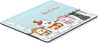 Caroline's Treasures Merry Christmas Miniature Schnauzer Black Mouse Pad, Multicolor, 7.75x9.25 (BB2382MP)