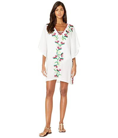 Trina Turk Bird of Paradise Caftan Cover-Up (White) Women