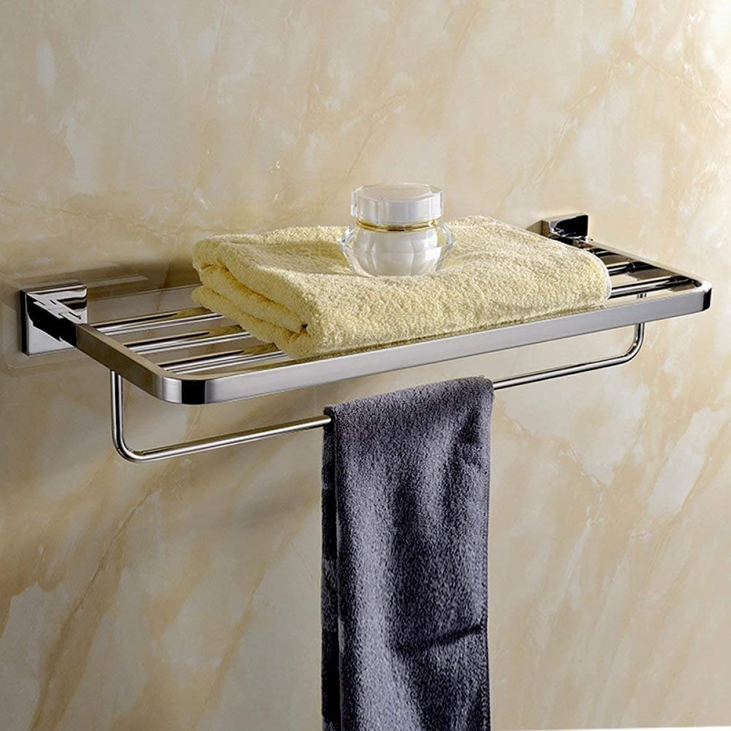 Bathroom Dry-Towels Square, Wall Bracket in Stainless Steel with Door Handle Frame-Towels Anti-Corrosion