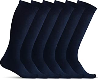 Men's Compression Socks (6-Pack) - Graduated Muscle Support - Athletic Medical