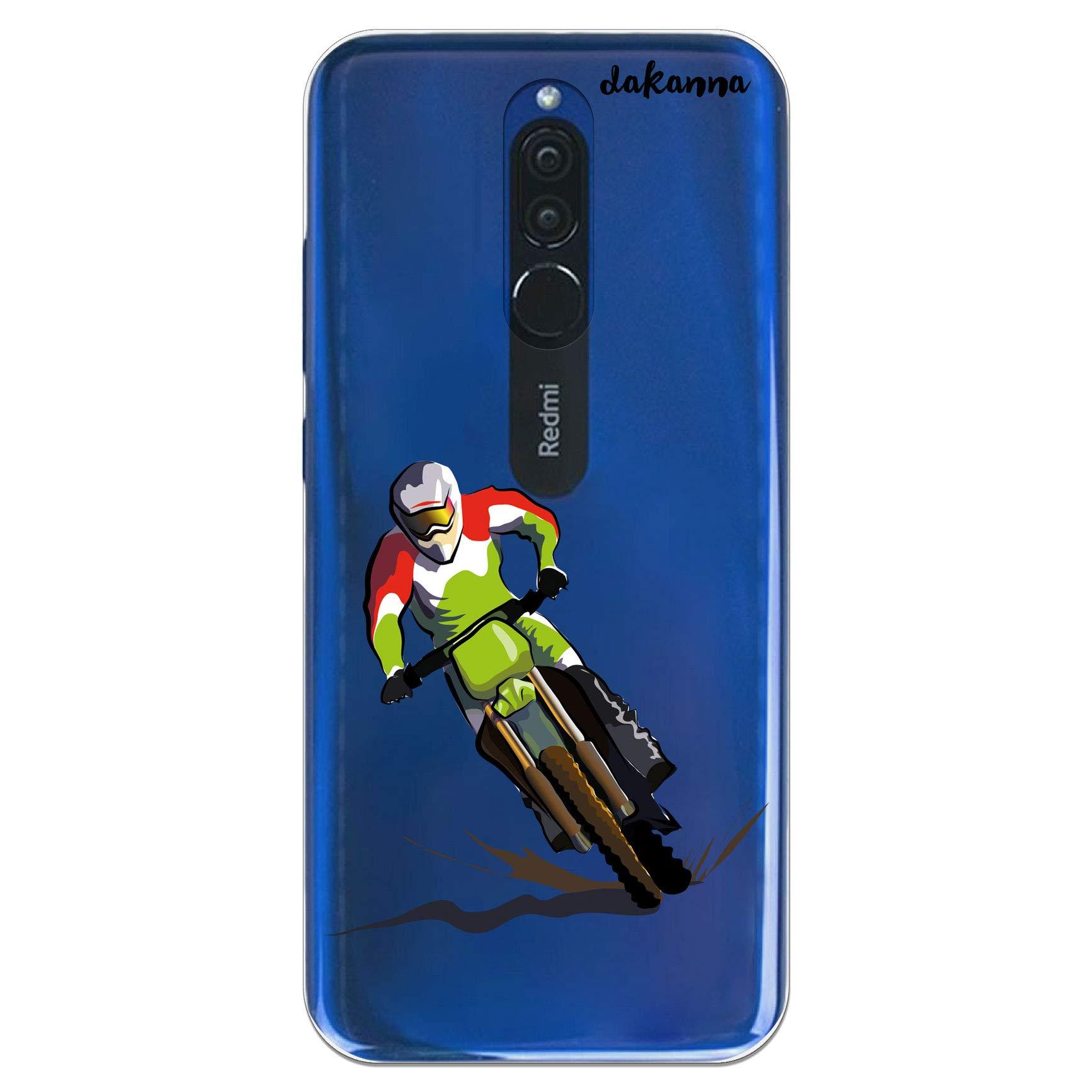 dakanna Funda Compatible con [Xiaomi Redmi 8] de Silicona Flexible, Dibujo Diseño [Motocross], Color [Fondo Transparente] Carcasa Case Cover de Gel TPU para Smartphone: Amazon.es: Electrónica