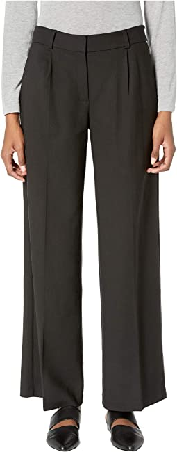 Drapey Tencel Stretch Wide Leg Trousers