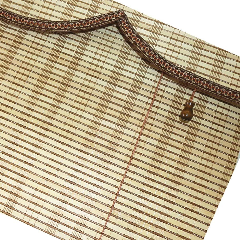 calidad garantizada Persianas enrollables Cortina de bambú con cordón Cortina a a a Prueba de Polvo para el salón de té Cortinas con cenefas de Onda (Color   Takemoto Color, Tamaño   100×120cm)  saludable