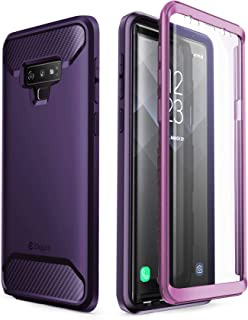 Clayco Samsung Galaxy Note 9 Case, [Xenon Series] Full-Body Rugged Case with Built-in 3D Curved Screen Protector for Samsung Galaxy Note 9 (2018 Release) (Purple)