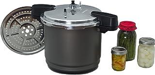 Granite Ware Pressure Canner and Cooker/Steamer, 7 Pint Jars or 8 Half-Pint Jars, 12-Quart, Black
