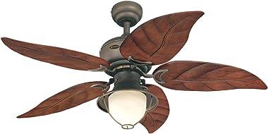 Westinghouse Lighting 7236200 Oasis Ventilador de techo para interiores con luz, 48 pulgadas, bronce aceitado