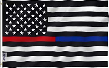 thin blue red line american flag